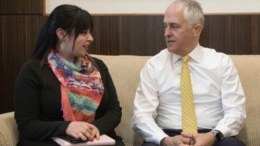 Dassi Erlich meets Prime Minister Malcolm Turnbull in Melbourne earlier this year.