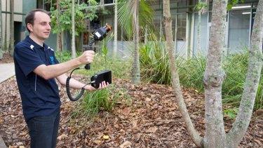The Zebedee laser scanner used by Queensland Police.