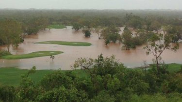 Broome Golf Club is completely under water.