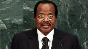 President Paul Biya of Cameroon addresses the United Nations General Assembly.
