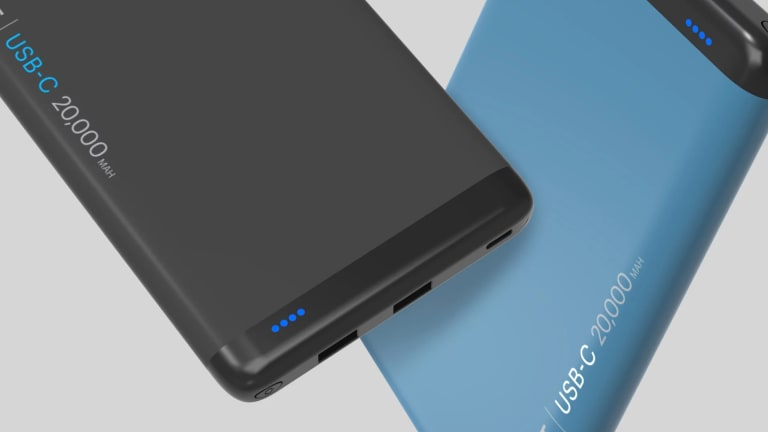Cygnett's 20,000mAh ChargeUp Pro can be filled up overnight and used to power your devices through the day.