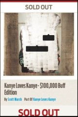 Scott Marsh released an image on Instagram showing the Kanye Love Kanye artwork painted over and 'sold out'.