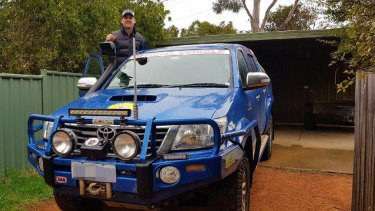 Toby Mildren reunited with his Toyota Hilux 72 hours after it was stolen from his driveway.