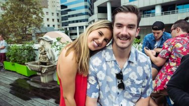Max Hardwick-Morris, pictured with friend, was targeted in an alleged late night attack on Australia Day.
