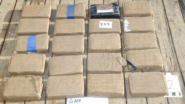 Cocaine found aboard the Kaiyo Maru No.8.