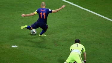 Arjen Robben scored two in the stunning win.