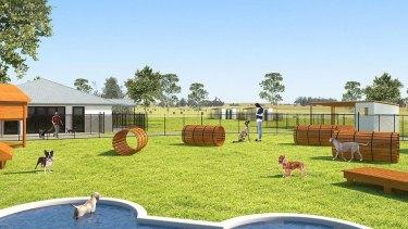 An artist's impression of the proposed dog breeding facility near Bathurst.