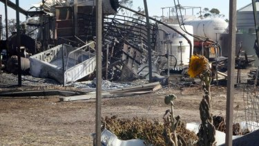 The devastating result of the blaze in Esperance.
