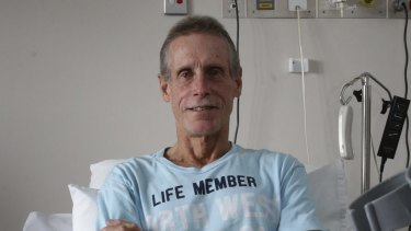 Mr Quinlivan reflects on the shark attack from his hospital bed.
