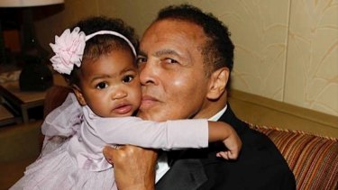 Muhammad Ali and granddaughter Sydney.