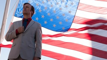 Bob Odenkirk as Jimmy McGill, on his way to becoming Saul Goodman, in Better Call Saul.
