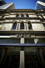The Alpha restaurant at the Hellenic Club, Sydney.