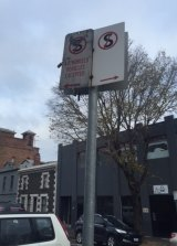 Mark Anderson says he left his car in a permit zone and returned to find it parked under a no-stopping sign.