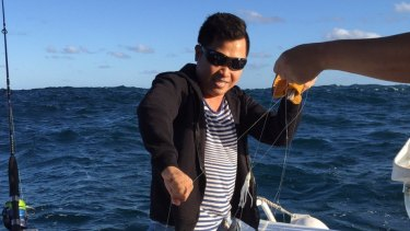 Tim Nguyen has been missing since his boat capsized at Botany on Thursday.