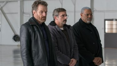 Bryan Cranston, Steve Carell and Laurence Fishburne in Richard Linklater's Last Flag Flying.