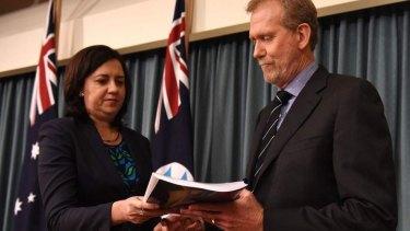 CCC chairman Alan MacSporran, pictured with Queensland Premier Annastacia Palaszczuk.