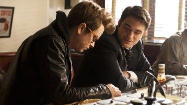 Dane DeHaan (left) as James Dean and Robert Pattinson as Dennis Stock in <i>Life</i>.