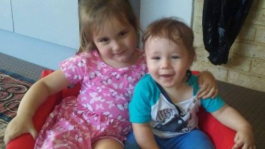 Quick-thinking Darcy-Pippa looked out for her little brother Brodie-Robert and mother Katelyn in a crisis.