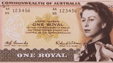 This 'artist's essay' shows how the one royal note might have looked.