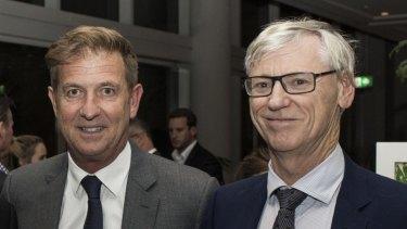 Tim Worner (left) and Bruce McWilliam.