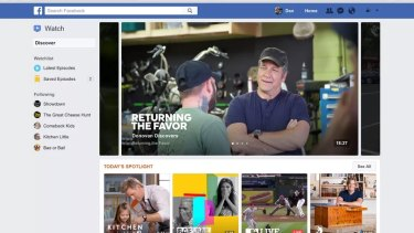 Facebook has introduced a new 'Watch' tab in the US.