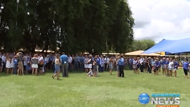 Hundreds of mourners gathered in Katherine to farewell the 14-year-old.