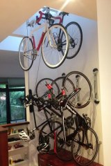 Racked up: there are ways to fit bikes in small spaces.