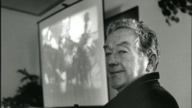 Former ANU registrar Colin Plowman at the university.