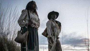 Acclaimed: Natassia Gorey Furber and Hamilton Morris in Sweet Country.