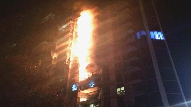 The 2014 Docklands Lacrosse apartment building fire in Melbourne.