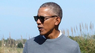 Former United States President Barack Obama playing golf earlier this month.