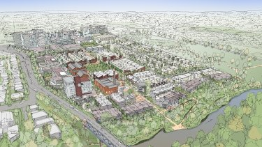 A sketch of the development at the Alphington paper mill site.