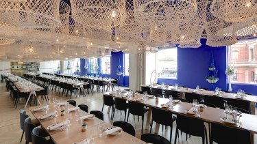 Inside the Hellenic Republic restaurant in Kew.