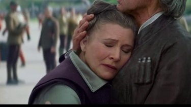 Princess Leia weeps
