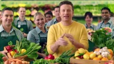 Front man: Jamie Oliver in the video.