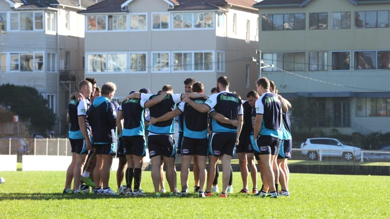 Back to the future: Blues players train at Coogee during the 2013 campaign.