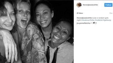 Jessica White and friends in Bali.