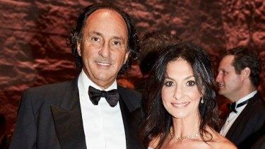 Rodney and Lyndi Adler at the Gold Dinner in Sydney.