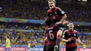 Destruction: Toni Kroos grabbed two goals.