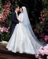 Miranda Kerr's wedding gown is one of the 140 pieces that will feature in the House of Dior exhibition.
