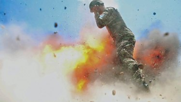 The photo taken by Hilda Clayton at the moment she was killed when a mortar tube accidentally exploded during an Afghan National Army live-fire training exercise.