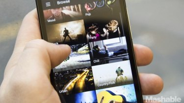 The Spotify streaming service offers access to a library of more than 20 million songs.