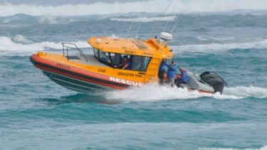 A man has survived eight hours in the dark at sea.
