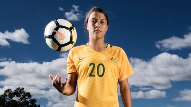 Not happy: Sam Kerr was snubbed by FIFA for the women's player of the year award.