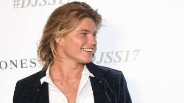 Male model Jordan Barrett.