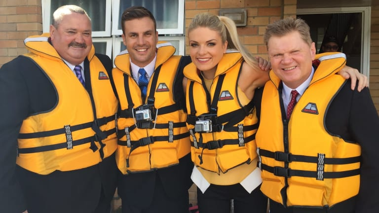 Daryl Brohman, Beau Ryan, Erin Molan and Paul Vautin, from The Footy Show.