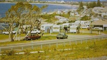 Mooloolaba Beach Caravan Park in the 1970s.