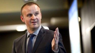 Treasurer Andrew Barr.