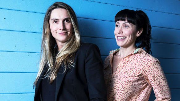 How a bikie wedding inspired Genevieve Hegney and Catherine Moore's Unqualified