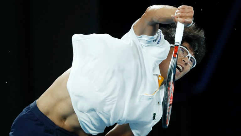 Marquee man: Hyeon Chung of South Korea was the breakout star of the 2018 Australian Open.